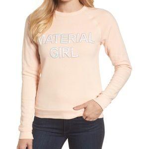 "Bow & Drape | ""Material Girl"" Sequin Sweatshirt"